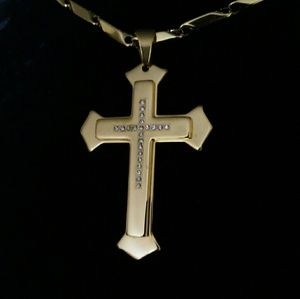 Stainless Steel men's Cross Necklace