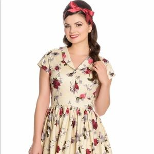 9f1b5fe160 hell bunny Dresses - Hell Bunny Rosemary Floral Dress Pinup Vintage