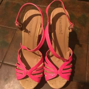 Cute pink wedges