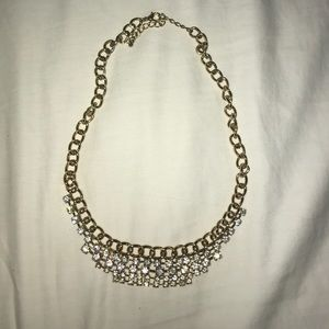 Gold and diamond J. Crew statement necklace