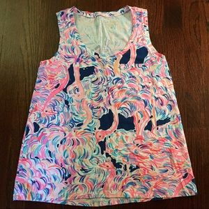 Lilly Pulitzer Head in the Sand Crayton Tank, XS
