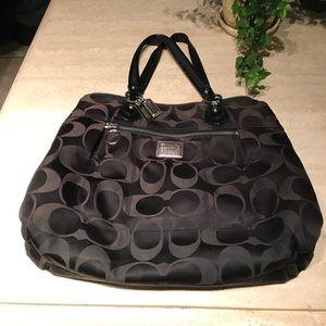 Coach poppy black bag