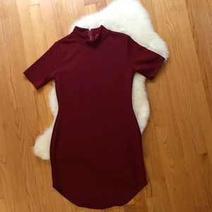 Kareena Ribbed Curved Hem Bodycon Dress