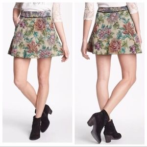 NWOT Free People Tapestry Carpet Bag Floral Skirt