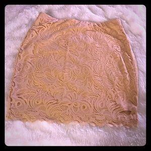 Mini Lace Skirt