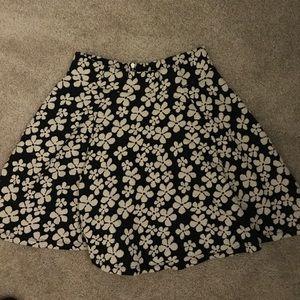 H&M floral Navy blue skirt