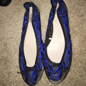 Zara embroidered flats