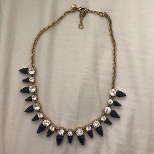 J. Crew blue jewel statement necklace