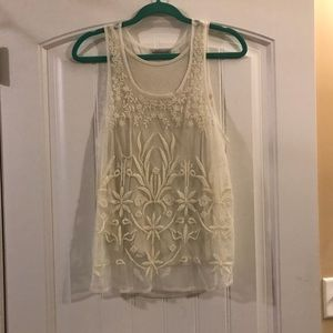 Like new white lace American eagle tank top