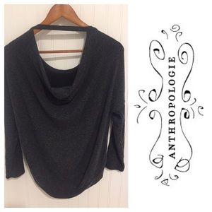 Anthropologie Cha Sor low back fuzzy tshirt Top M