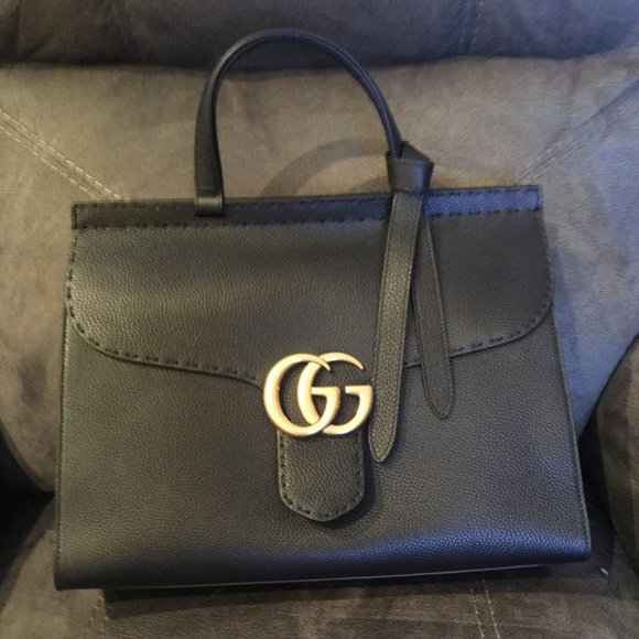 9bfb99d9d3f840 Gucci Bags | Gg Marmont Leather Top Handle Bag | Poshmark