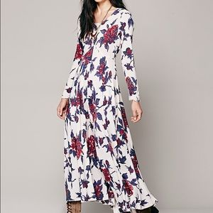 Rare First Kiss Free People Floral Print Dress