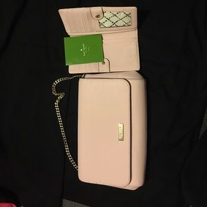 Small rose Kate Spade Purse & matching wallet