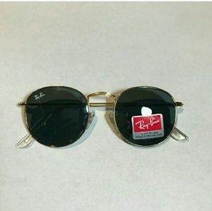 Ray-Ban Round black/gold Sunglasses RB3447