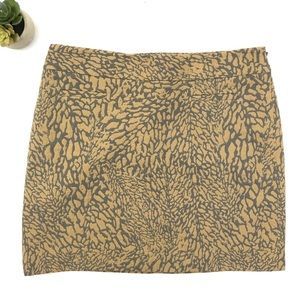Ann Taylor Loft Animal Print Mini Skirt Size 10