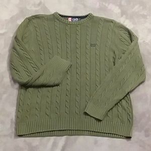 Chaps men's size Large cable knit sweater