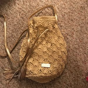 Lilly pulitzer gold pineapple crossbody bag