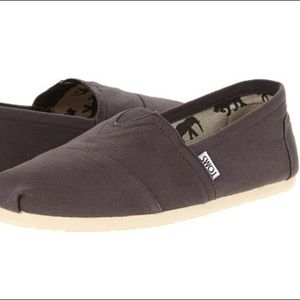 Charcoal grey toms