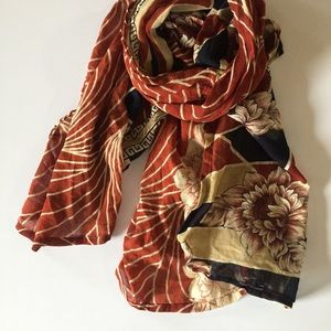 One Mother recycled sari scarf • nwt