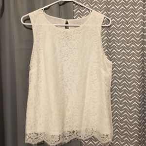 Lace High Neck Tank Top NWOT