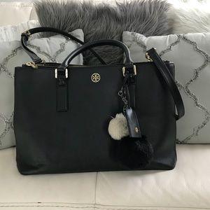 Tory Burch Robinson Double Zipper Tote Bag