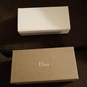 Beige Dior sunglasses case