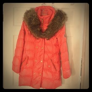 Juicy couture faux fur hooded parka