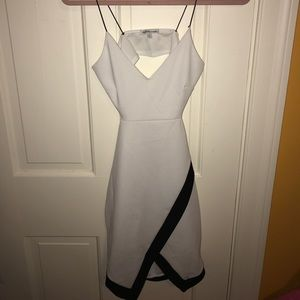 CHARLOTTE RUSSE -Black/White Cut out dress - Small