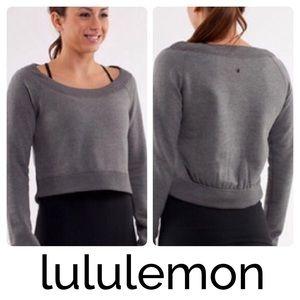 Lululemon Crew Pullover Cropped Gray Sweatshirt