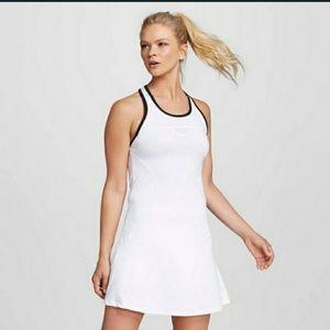 XS NIKE TENNIS WHITE AND BLACK STRIP DRESS