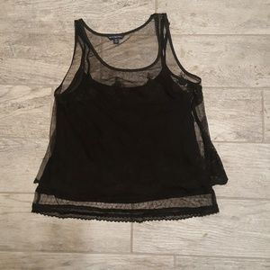 NWOT American Eagle Double Layer Lace Tank