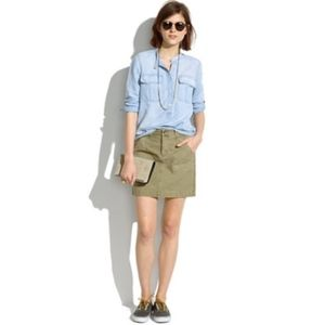 Madewell Cargo Skirt Green Size 8