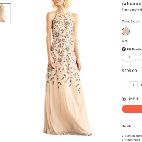Adrianna Papell Dresses   Floral Beaded Halter Gown   Poshmark