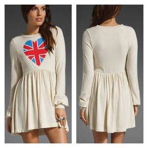 WILDFOX British Babe Babydoll Dress XSmall