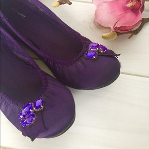 Old Navy Purple Jewels Accent Flats