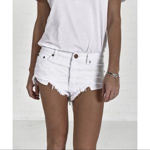 {One Teaspoon} Beauty Rollers Denim Shorts
