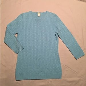 J. Crew 100% Cashmere Cable Sweater
