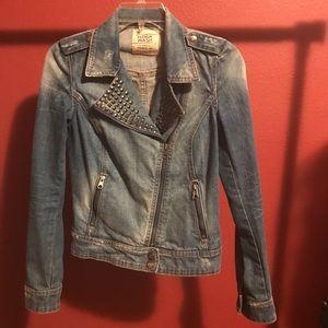 Studded Denim Biker Jacket 🏍