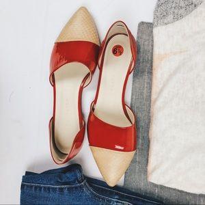 Jenni Kayne d'Orsay red  6.5 flats