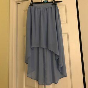 Dusty blue goddess skirt