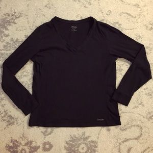 Black Calvin Klein Performance long sleeve shirt