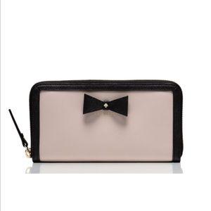NWT Kate Spade Hazel Court Lacy wallet in Pebble