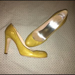 Marc by Marc Jacobs Heels Gold Glitter 8.5
