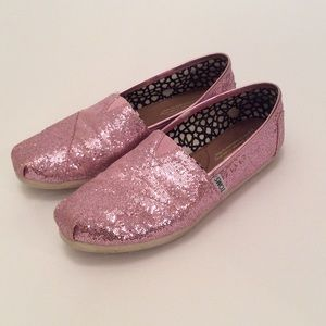 Pink Glitter Flats by Toms
