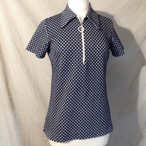 Sears True 60's Vintage Ladies Checkered Top