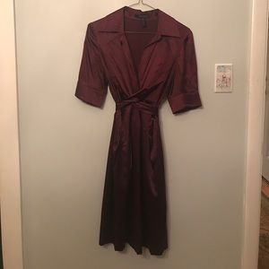 BCBG Maxazria Sz 4 Maroon Dress