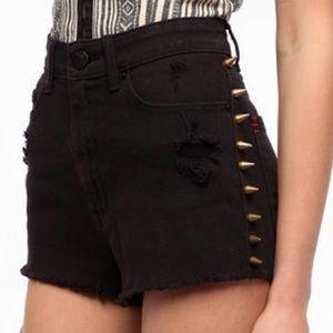BDG Urban Outfitters High Waist Black Jean Shorts