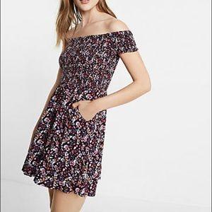 EXPRESS Off-shoulder Floral Dress