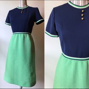 Navy/green dress