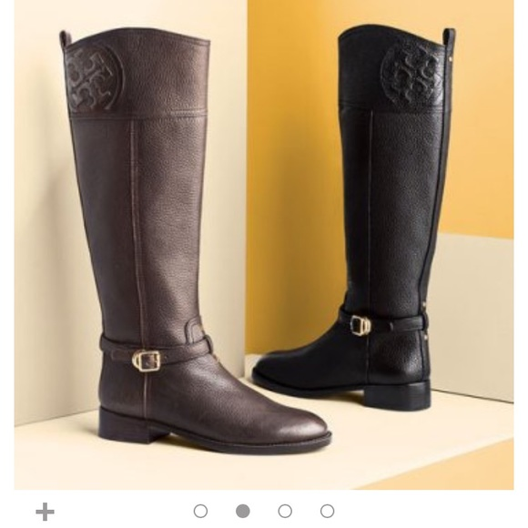 50e7f4a2763c Tory burch Marlene leather riding boot. M 59e55e50981829457d019c2e